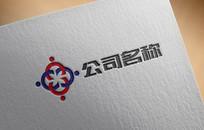 现代简约商务合作logo AI