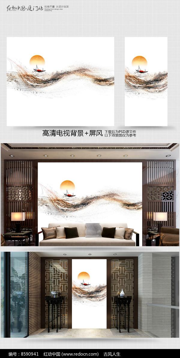 原创室内装饰画电视背景墙图片