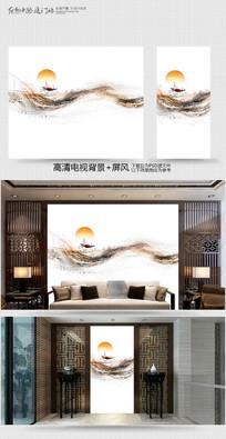 原创室内装饰画电视背景墙 PSD