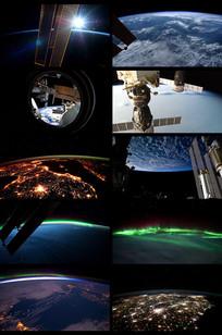 宇宙卫星拍摄地球视频