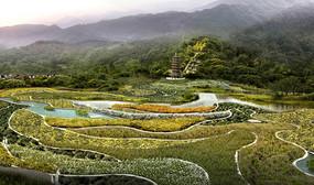 百草植物园效果图