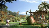 茶文化乡村景观效果 JPG