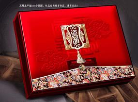 瓷韵月饼盒食品包装盒平面分层