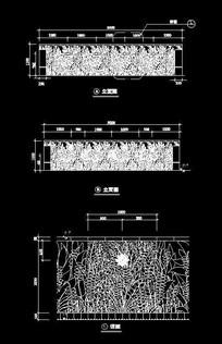 稻草图案长方形景墙