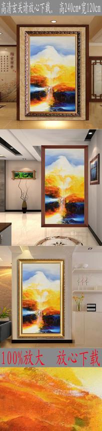 高清抽象山水风景油画玄关 TIF