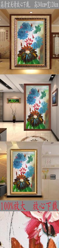 高清抽象鲜花富贵艺术玄关图 TIF