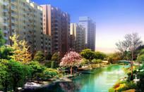 河岸景观效果图