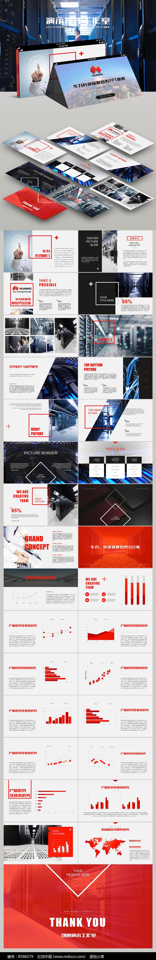 华为科技集团工作总结计划PPT