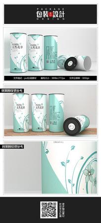简约时尚花茶铁罐包装设计