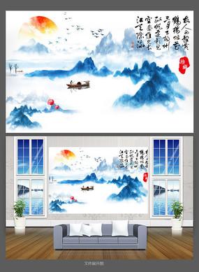 简约中国风电视背景墙设计