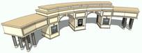 欧式风格弧形廊架