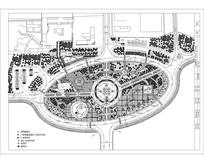 椭圆形公园平面图