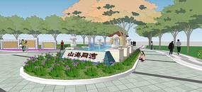 住宅区次入口设计