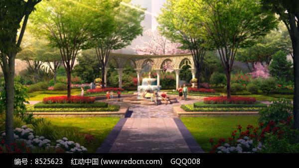 住宅区庭院景观图片