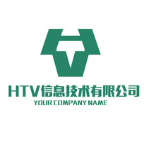 字母HTV组合商标LOGO PSD