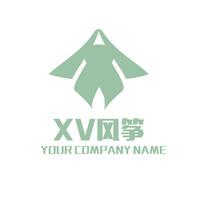 字母XV组合风筝LOGO商标