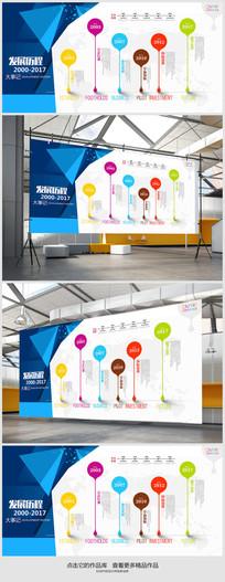 公司发展历程背景展板设计