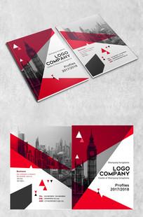 红白双色拼接时尚画册封面