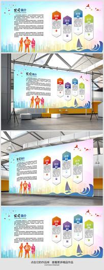 简约广告公司文化墙设计
