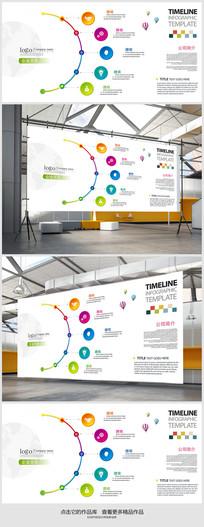 简约企业文化背景展板设计