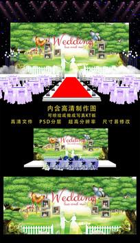 精美婚礼舞台背景 PSD