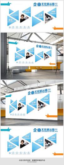 企业文化展示墙展板设计