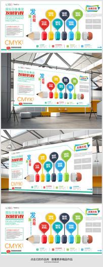 企业造型文化墙背景设计