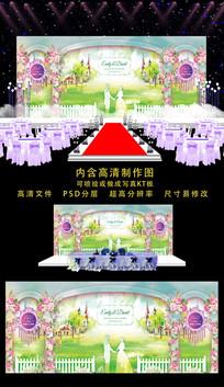 时尚婚礼舞台背景 PSD