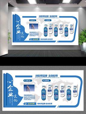 通用企业文化墙企业发展历程墙