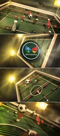3D桌面足球标志展示ae模板