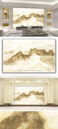 大理石纹水墨山水背景墙