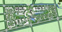 大学校园景观规划总平面图
