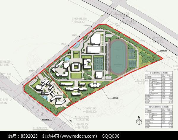附属小学校园规划总平面图片