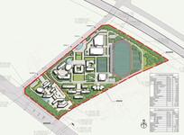 附属小学校园规划总平面