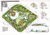 公园景观手绘图