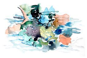 海底色彩插画 PSD