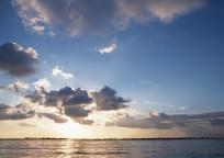 海面日出天空景观 JPG