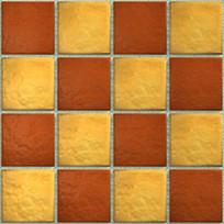 红黄方格地砖贴图