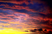 火红云朵天空 JPG