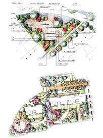 绿地场所手绘图