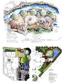绿荫甲板平面图