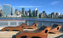 木质躺椅形状座椅 JPG