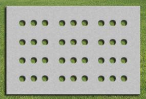 生态停车场植草砖平面贴图