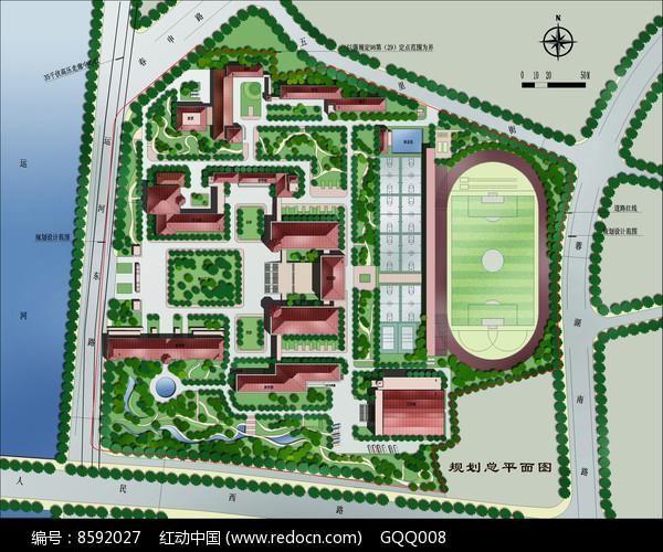 校园规划总平面图片