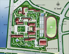 校园规划总平面
