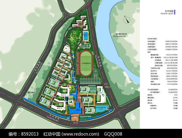 校园规划总平面图图片
