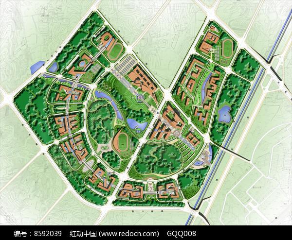 校园景观规划总平面图片