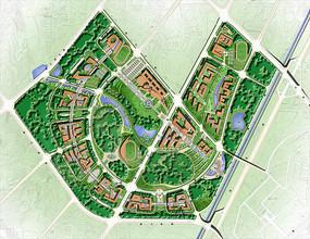 校园景观规划总平面