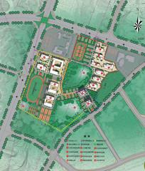 中学规划设计方案总平面