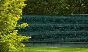 薄荷绿色马赛克景墙